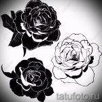 эскизы тату цветов черно белые - рисунки от 26-04-2016 5