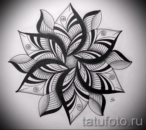 Эскизы тату цветы чёрно белые