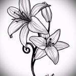 эскизы тату цветы на боку - рисунки от 26-04-2016 2