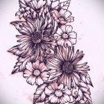 эскизы тату цветы на боку - рисунки от 26-04-2016 6