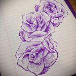 эскизы цветов для тату - рисунки от 26-04-2016 3