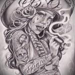 эскиз тату в стиле чикано 1