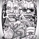 эскиз тату в стиле чикано 7