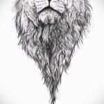 эскиз тату голова льва - рисунки для татуировки от 29042916 1
