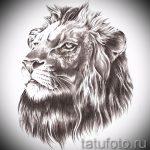 эскиз тату голова льва - рисунки для татуировки от 29042916 2