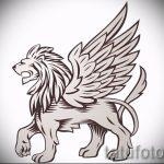 эскиз тату лев с перьями - рисунки для татуировки от 29042916 3