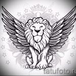 эскиз тату лев с перьями - рисунки для татуировки от 29042916 4