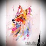 эскиз тату лиса - смотреть картинки от 25-04-2016 32