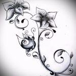 эскиз тату на запястье цветы - рисунки от 26-04-2016 10