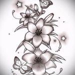 эскиз тату на запястье цветы - рисунки от 26-04-2016 13
