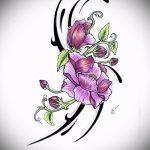 эскиз тату на запястье цветы - рисунки от 26-04-2016 3