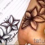 эскиз тату на запястье цветы - рисунки от 26-04-2016 5