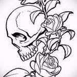 эскиз тату розы на бедре - смотреть прикольную картинку 10