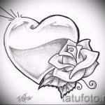 эскиз тату розы на бедре - смотреть прикольную картинку 11