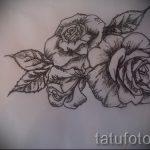 эскиз тату розы на бедре - смотреть прикольную картинку 12