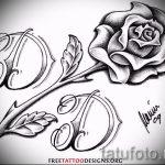 эскиз тату розы на бедре - смотреть прикольную картинку 2