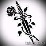 эскиз тату розы на бедре - смотреть прикольную картинку 4