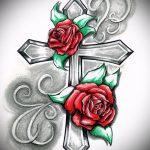 эскиз тату розы на бедре - смотреть прикольную картинку 7