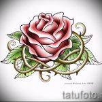 эскиз тату розы на бедре - смотреть прикольную картинку 8