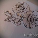 эскиз тату розы на бедре - смотреть прикольную картинку 9
