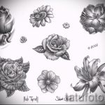 эскиз тату розы на плече 1