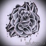 эскиз тату розы на плече 2
