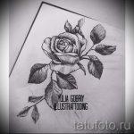 эскиз тату розы на плече 4