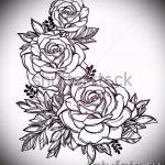 эскиз тату розы на руку - смотреть прикольную картинку 11
