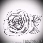 эскиз тату розы на руку - смотреть прикольную картинку 13