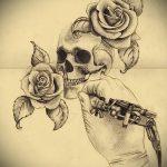 эскиз тату розы на руку - смотреть прикольную картинку 4