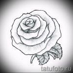 эскиз тату розы на руку - смотреть прикольную картинку 7