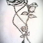 эскиз тату розы на руку - смотреть прикольную картинку 8