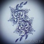 эскиз тату синяя роза - смотреть прикольную картинку 1