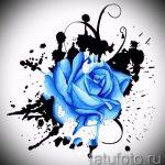 эскиз тату синяя роза - смотреть прикольную картинку 2