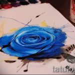 эскиз тату синяя роза - смотреть прикольную картинку 3