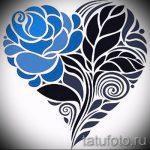 эскиз тату синяя роза - смотреть прикольную картинку 4