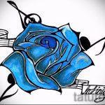 эскиз тату синяя роза - смотреть прикольную картинку 5
