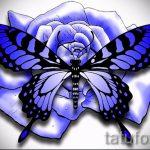 эскиз тату синяя роза - смотреть прикольную картинку 6