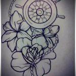 эскиз тату цветы на бедро - рисунки от 26-04-2016 1