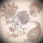 эскиз тату цветы на бедро - рисунки от 26-04-2016 3