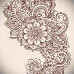 эскиз тату цветы на бедро - рисунки от 26-04-2016 4