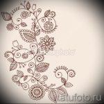 эскиз тату цветы на бедро - рисунки от 26-04-2016 5