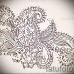 эскиз тату цветы на бедро - рисунки от 26-04-2016 6