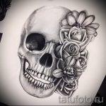 эскиз тату цветы на бедро - рисунки от 26-04-2016 8
