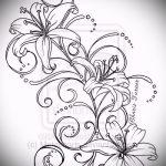 эскиз тату цветы на руку - рисунки от 26-04-2016 8