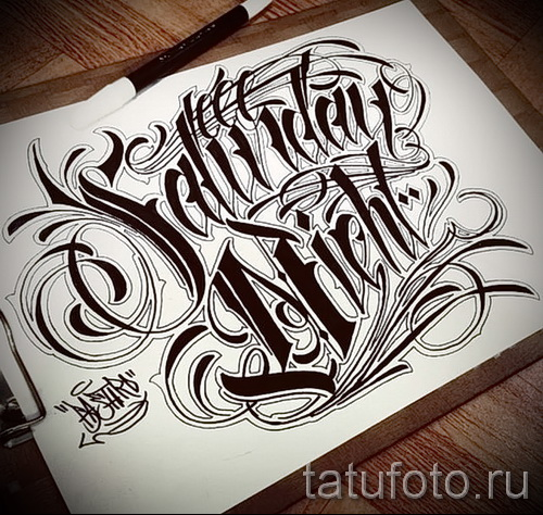 Татуировки в стиле Чикано ТриТатушки 64
