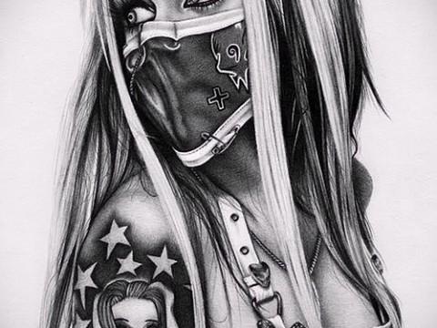 эскиз чикано татуировки 1