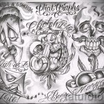 Chicano sketch tattoo sleeve 1