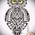 Eule Tattoo-Designs auf dem Unterarm 1