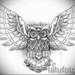 Eule Tattoo-Designs auf dem Unterarm 3